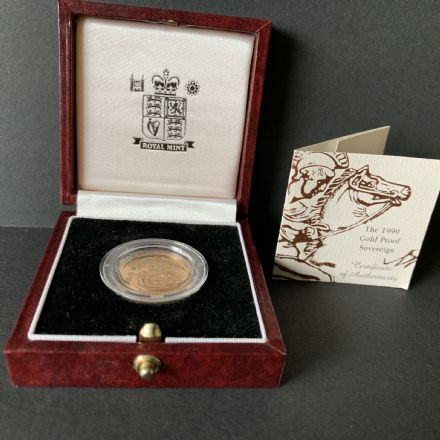 1999 Proof Full Gold Sovereign